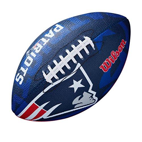 Wilson Unisex-Youth NFL JR TEAM LOGO FB NE American Football, JUNIOR