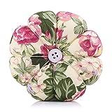 HEEPDD Nadelkissen Nähen Blumen Kürbis Design Nähzeug Aufbewahrungsstifte für herausnehmbare