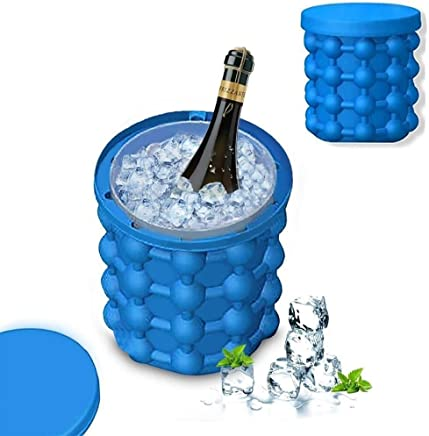 ShoppoWorld Silicone Ice Cube Maker | The Innovation Space Saving Ice Cube Maker | Bucket Revolutionary Space Saving Ice-Ball Makers for Home, Party and Picnic