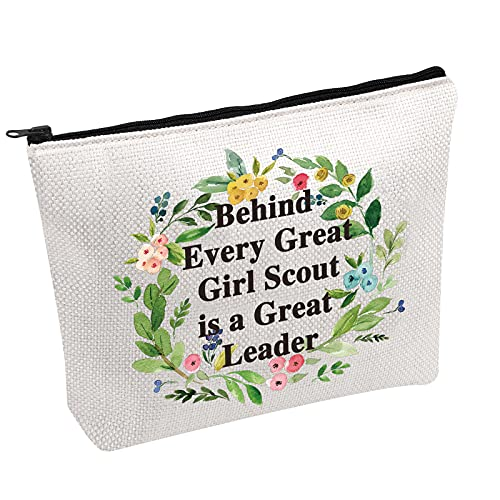Girl Scout Leader Gift Behind Every Great Girl Scout is a Great Leader Toiletry Bag Scout Leader Gift Troop Leader Gift (Girl Scout bag)