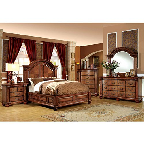 247SHOPATHOME Bedroom set, King, Oak