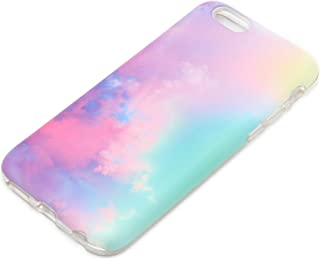 iPhone 6S Case iPhone 6 Case Protective case uCOLOR Pastel Gradient Abstract Cloud for iPhone 6 6S Dual Layer Tough Case with [Slim Tempered Glass Screen Protector]