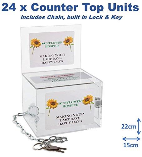 Acryl Box Unit - Beste voor fondsenwerving, sportevenementen, stemmen, liefdadigheid, donatie, loterij, wedstrijden, suggesties, Tips, weergaven, adviezen, keuzes, opmerkingen 24