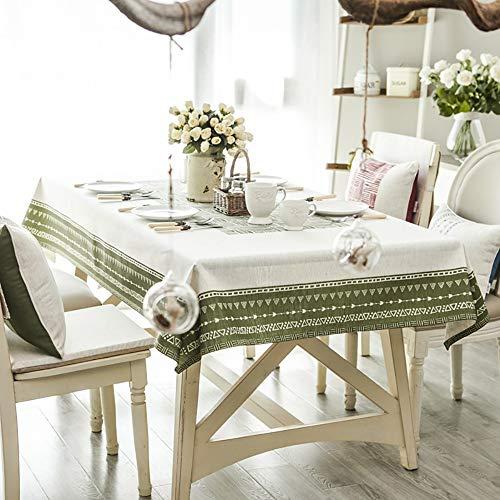 Tafelkleed, katoen en linnen tafelkleed rechthoekig salontafel tafelkleed tuintafelkleed afwasbaar keukentafelkleed voor eettafel - 130X130cm