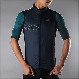 Mysenlan メンズ サイクリングベスト ノースリーブ 袖なし 超薄型 防風通気 サイクルウエア スポーツウェア 自転車ベスト