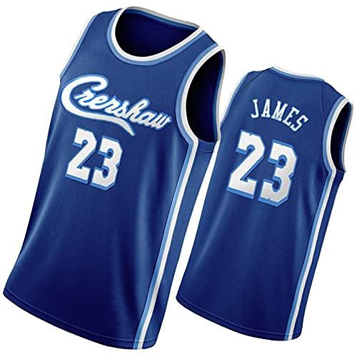 DSWF Jmas 23# lãkẽr Hombre de Baloncesto de los Hombres Camiseta sin Mangas, Ropa Deportiva, Joven, Transpirable, Secado rápido, Uniforme de Baloncesto a M