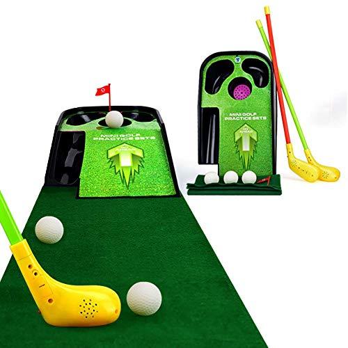 ZDSKSH Mini Golf Tappetino Putting a Interno e All'aperto Mini Istruttore di Golf Giochi da Giardino per Bambini Golf Club, Palla da Allenamento, Sport al Chiuso e Golf Set Mazze da Golf