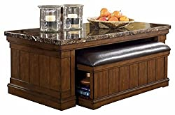 Signature Design by Ashley T838-1 Merihill Collection Coffee Table, Medium Brown