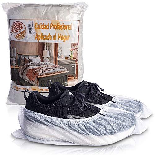 PimPam Factory - Pack de 100 Cubrezapatos Desechables | Transpirables y Ajustables | Fabricado en España | Fundas Protectoras | Hipoalergénico | 100% Reciclable | Sin Olor