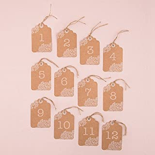 Weddingstar 9801 Large Table Numbers With White 1-12 Print