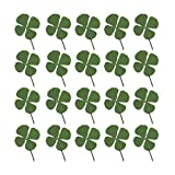 Artibetter Planta de hojas de trébol de cuatro hojas de flores secas prensadas naturales para hacer joyas de resina y manualidades