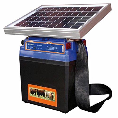 G S750 - Electrificador de valla con panel solar con batería para Bestiame