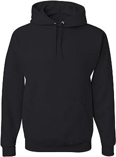 Jerzees Mens Black Adult Pullover Hooded Sweatshirt