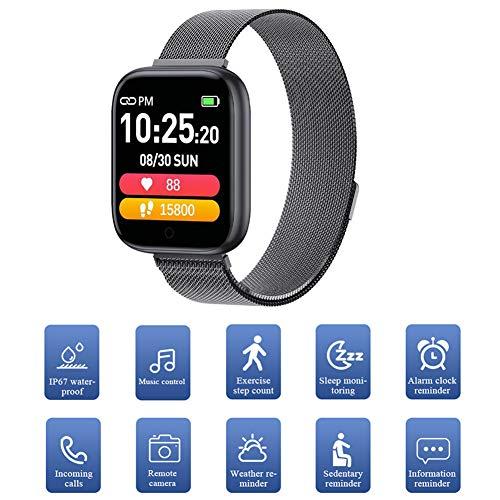 Smartwatch Orologio Con Contapassi Monitoraggio Del Sonno,Orologio Contapassi Con Touchscreen Da1,54 Pollici IP67 Nuoto Impermeabile,Molteplici Modalità Sportive Per La Maggior Parte Delle Persone,A