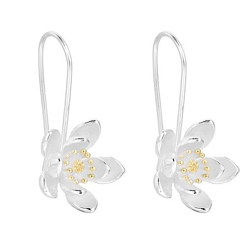 e7553239d349 Simple Flower Hoop Earring 925 Silver Earrings Accessories Handmade Jewelry