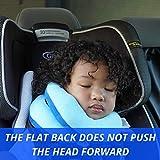 BCOZZY Kinder Nacken und Kinn stützendes Reisekissen – unterstützt den Kopf, Hals und das Kinn. Ein Patentiertes Produkt. Kindergröße, MARINEBLAU - 2