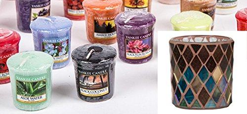YANKEE CANDLE Mix of 15 votive candles, 1 x votive holder, autumn mosaic.