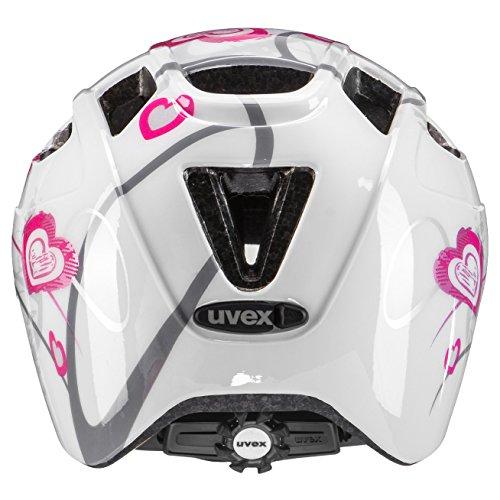 Uvex Kinder Finale Junior Mountainbikehelm, Mehrfarbig (Heart White pink), 51-55 cm - 3