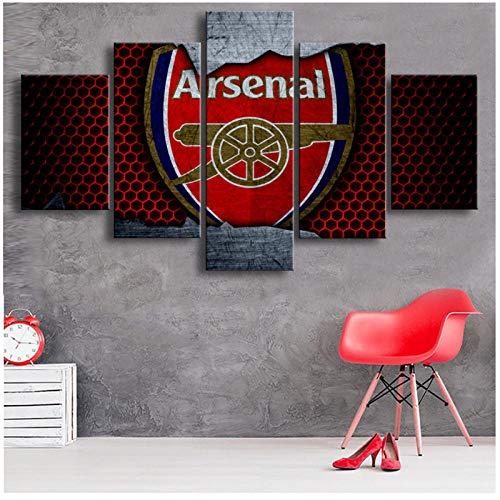 wymhzp Canvas Wall Art Painting Premier League Football Paintings Arsenal Sports Soccer Prints Posters Kids Room Home Decor 30x40 30x60x30x80cm Unframed