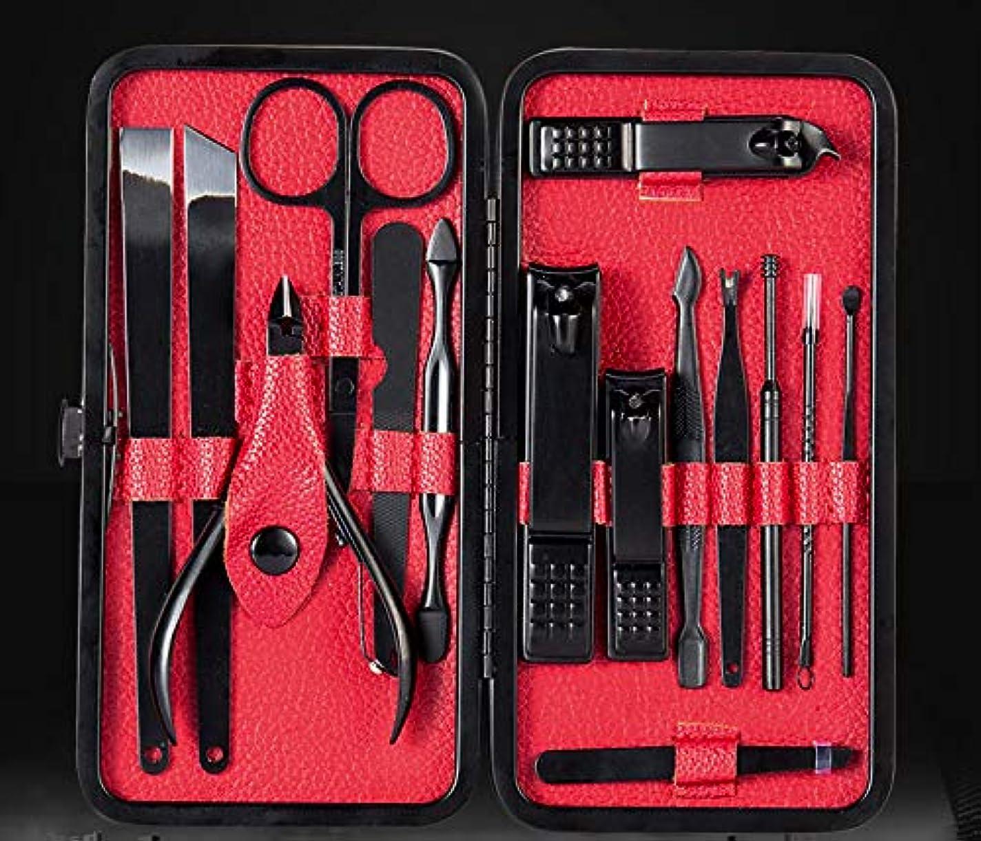尋ねる消防士シェーバー15本のネイルツールセットの美容セットマニキュアナイフ用に設定されたステンレス鋼ネイルハサミはカスタマイズ可能