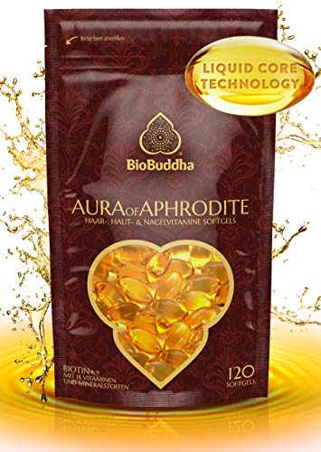 Hochdosierte Haar Vitamine Softgels – mit Biotin, Selen, Keratin, Zink, Hirse-Extrakt, 14 Vitaminen für schönere und gesündere Haare, Fingernägel und Haut, 120 Softgel-Kapseln
