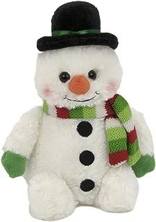 Bearington Snowball Plush Stuffed Animal Snowman, 6 inches