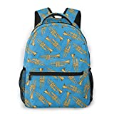 Brass Trumpets Print Custom Unique Casual Backpack School Bag Travel Daypack Gift