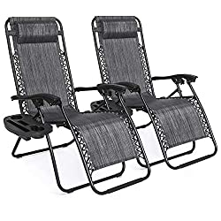 Best Choice Products Set of 2 Adjustable Zero Gravity Recliner- best camping chair for bad back