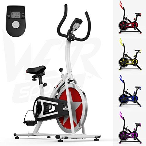 Aerobico Formazione Esercizio Bici Ciclo Fitness Cardio Allenamento Casa Ciclismo Corsa Macchina (Bianco)