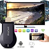 ELECTROPRIME Black WiFi Dongles Wireless Screen Display Receiver Part for Airplay Smart Phone