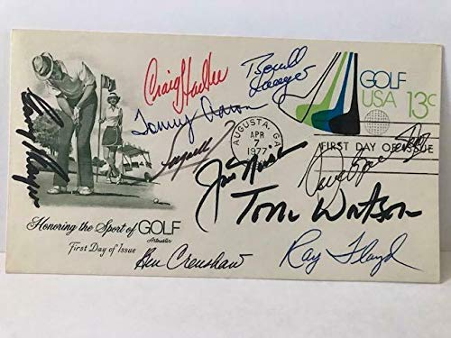 Review Golf Fdc Signed By 10 Masters Champs Ballesteros+nicklaus+watson+7 - PSA/DNA Certified - Auto...
