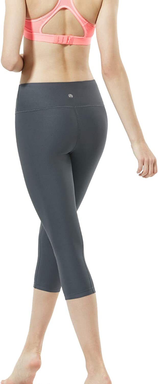 Capri Workout Leggings TSLA Women Capri Yoga Pants with Pockets 4-Way Stretch Yoga Capri Leggings w Hidden//Side Pocket