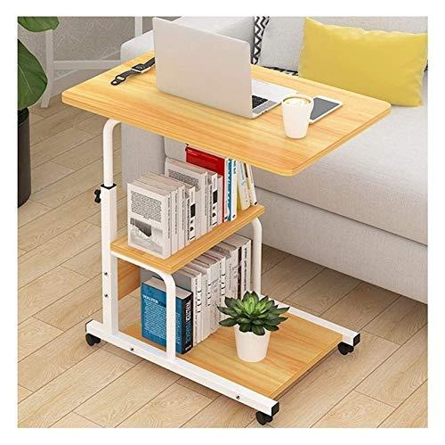 Mesa plegable Altura ajustable, escritorio para portátiles móviles, Estación de trabajo, Estación de trabajo, adecuado para la mesa de extremo portátil de dormitorio Tablas de extremo laterales de sof