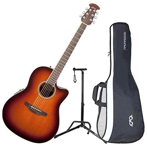 Ovation CS24-1 Celebrity Standard Mid-Depth Sunburst Acoustic/Electric Guitar wi