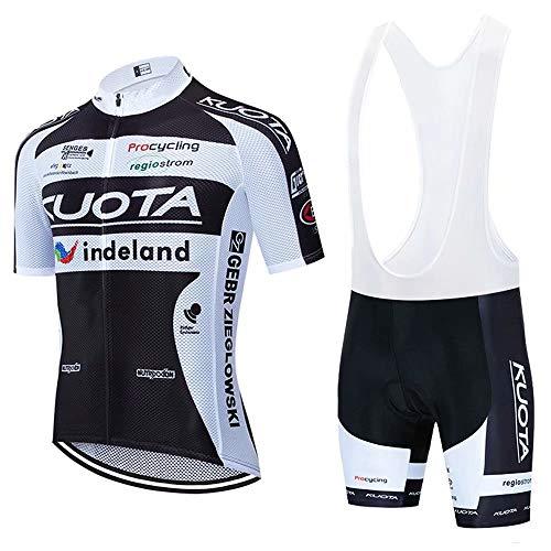 Completo Abbigliamento Ciclismo Uomo Estive, Maglia Ciclismo Maniche Corte con 3D Gel Imbottiti Pantaloncini Ciclismo Asciugatura Rapida per MTB Ciclista