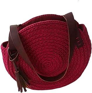 حقيبة للنساء-احمر انبيذي - مجموعة حقائب اليد