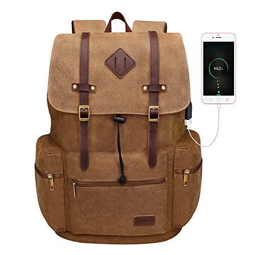 TM AMA Women Girls Canvas School Shoulder Bag Travel Backpack Rucksack
