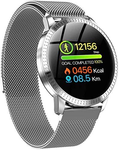 JSL Relojes inteligentes para mujeres y hombres, resistente al agua, reloj de fitness con presión arterial, monitor de ritmo cardíaco