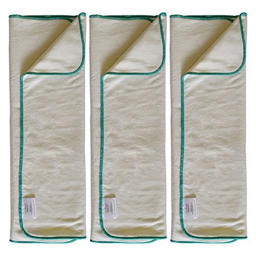 EcoAble 3-Pack Bamboo Cotton Prefold Inserts for Incontinence Cloth Diaper Covers Youth/Teen/Adult (3-Pack, Youth)