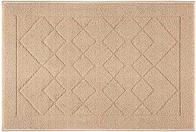 """Indoor Doormat Absorbent Mats Rubber Backing Non Slip Door Mat for Front Door Inside Floor Mud Dirt Trapper Mats Entrance Rug Shoes Scraper Machine Washable Carpet, Beige Large Squares, 24""""x 36"""""""