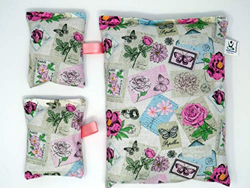 VITASIMPLEX 3 Lavendelkissen 1x ca.25x17cm, und 2 Lavendelsäcken mit Schlaufe zum Aufhängen, gefüllt mit 150g und 2X je 15g besten Französischen Lavendel aus der Provence
