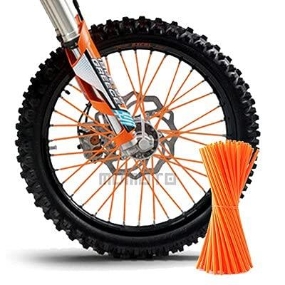 NICOLIE Motorcycle Dirt Bike Off Road Rim Wheel Spoke Skins For Ktm Kawasaki Yamaha Bmw Honda Crf 450 Cr Crf Xr Xl 85 125 250 500 - orange