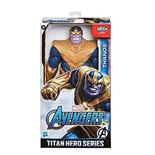 Hasbro Marvel Avengers - Titan Hero Series Blast Gear, Action figure di Thanos (classe Deluxe), di 30 cm, per bambini dai 4 anni in su