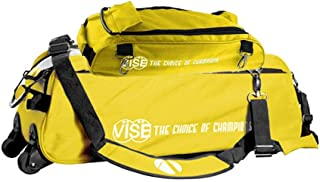 Vise Clear Top 3 Ball Tote Roller Bowling Bag with Shoe Bag- Yellow