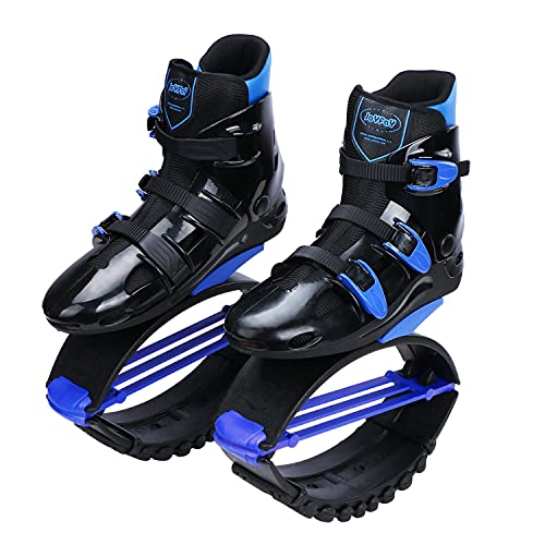 Joyfay Unisex Fitness Jump Shoes Bounce Shoes (Blue, XX-Large)