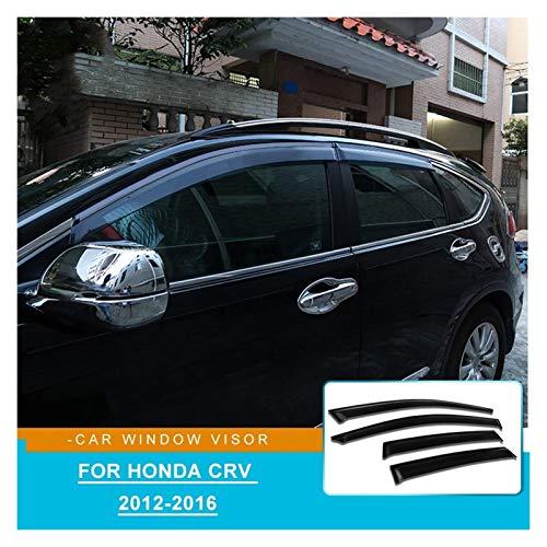 WRDD Windabweiser ABS-Fenster-Deflektor für Honda CRV 2012 2013 2014 2015 2016 Zubehör Türfenster Visier Autofenster Regenschutz