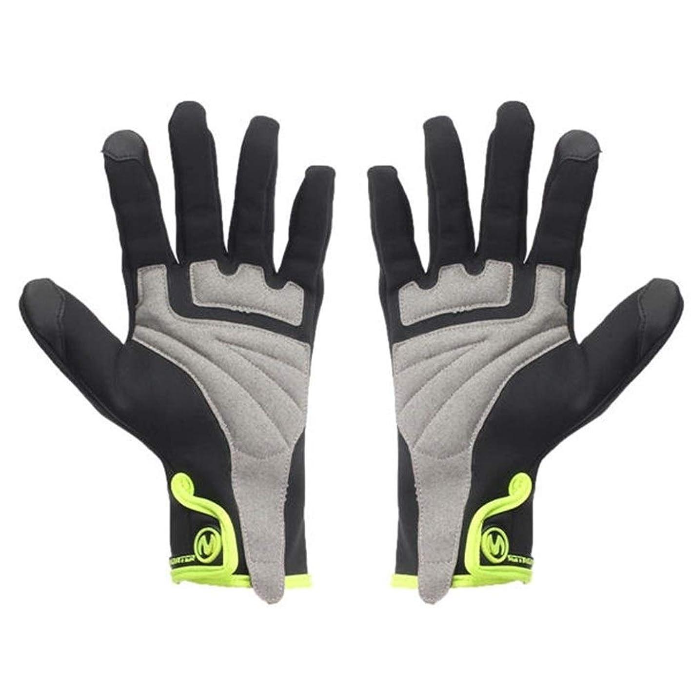 吸収損なうエミュレーションMJZJP 手袋防水フルフィンガーグローブタッチスクリーン冬のオートバイサイクリング防風暖かいです (Size : L)
