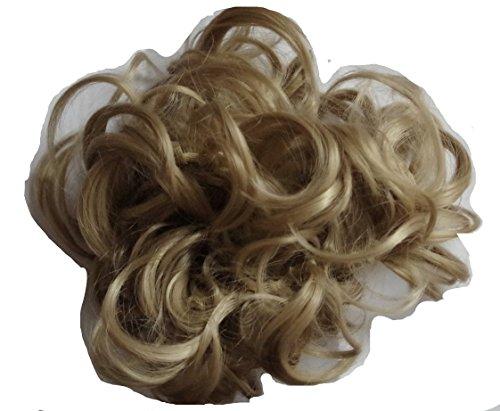 JM-Fashion-Supply Voluminöse Haarteil Pferdeschwanz Zopf Dutt Gummiband 80-120cm (naturblond 16#)