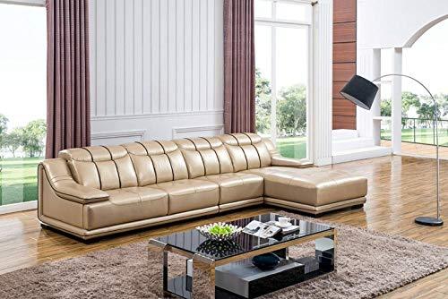 Winpavo Sofas & Sofas Sofa Corner Sofa Set Home Design Wohnzimmer Sofa Set Hergestellt Aus Echtem Leder Sofa L-Förmige Gelbe Farbe Smart Sofa Set Ecksofa