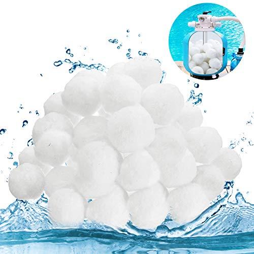 Quarzsand Filter Balls, Filtermaterial ersetzen, Filteranlagenzubehör, filterballs Pool,Filter Balls,Weiße Filterkugeln,Pool Filter Balls,Filter Balls für sandfilteranlagen,700g Filterballe